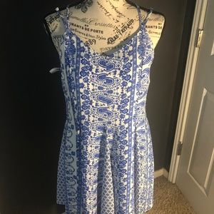 Blue Patterned Summer Dress